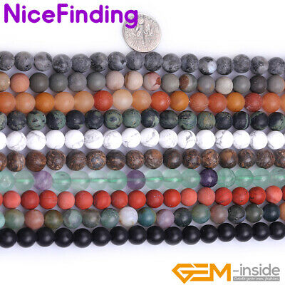 4-20mm Natural Quartz Multicolor Round Loose Stone Beads For Jewelry Making 15""