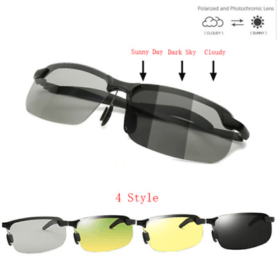 Men Photochromic Polarized Sunglasses Transition Lens Driving UV400 Glasses