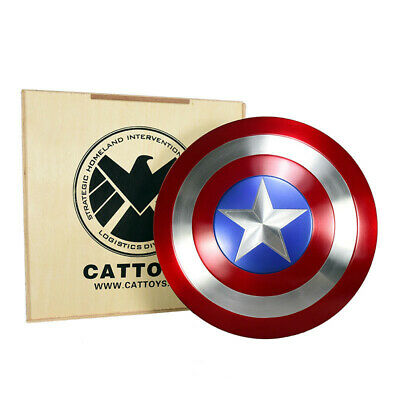 Metal CATTOYS 1:1 AVENGERS Captain America Shield Replica&Prop Perfect Version
