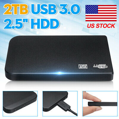 2.5'' 2TB Portable Surface External HDD SSD Hard Drive USB 3.0  For Laptop