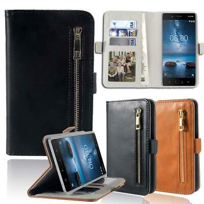 Flip Cover Stand Wallet Card Leather Case For Nokia 1/2/3/4/5/6/7/8/9 phones