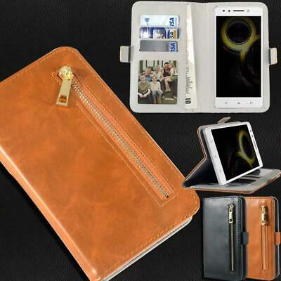 Flip Cover Stand Wallet Card Leather Case For Various Lenovo SmartPhones