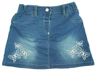 Girls Baby Denim Look Butterfly Skirt with Bloomer Pants Newborn to 24 Months