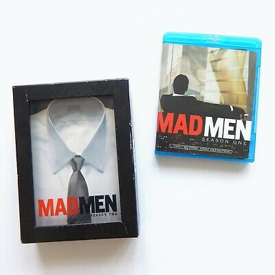 2 BOX SETS Mad Men Season One + Two DVD and Blu-ray AMC TV Television Series 1 2