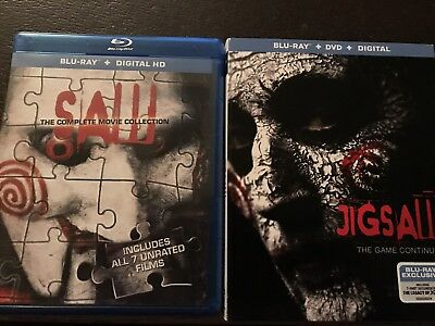 8 Film BluRay - Saw/Jigsaw: The Complete Movie Collection (*NO Digital*) RARE