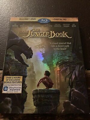2-Disc BluRay/DVD - The Jungle Book (2016, Digital Copy Included) w/ Slipcover
