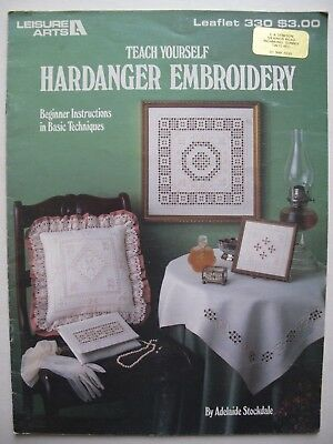 TEACH YOURSELF HARDANGER EMBROIDERY - Leisure Arts, USA