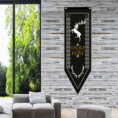 Game of Thrones House Baratheon Hanging Banner Flag 45x150cm Gift Home Decor