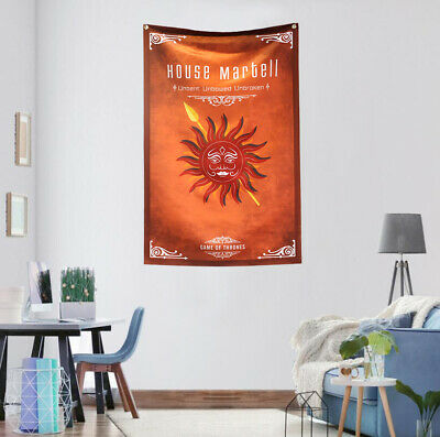 Game Of Thrones House Martell Flag Banner GOT Fans Gift 2.2'x3.4' Home Decor