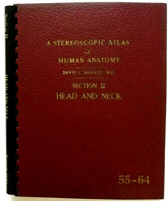 """VIEW MASTER """"ATLAS of HUMAN ANATOMY"""" REEL 55-64 HEAD and NECK 3 Stereoskopic"""