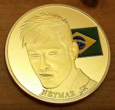 Neymar Jr Brazil Flag Gold Coin Real Madrid Man U C World Cup Russia PSG Paris