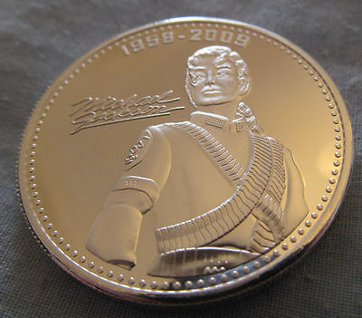 Michael Jackson Silver Coin MJ King of Pop Music 80s 70s Retro Old Vintage Love
