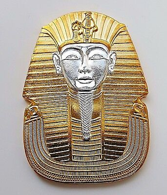 Egypt Pharaoh Coin Medal Ingot Old Pyramid Arabic Ancient Gold & Silver Retro UK