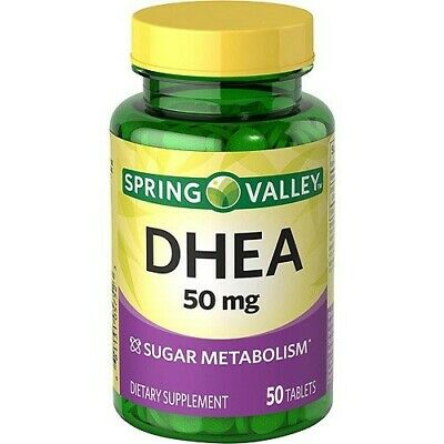 SPRING VALLEY DHEA 50mg Dietary Supplement Dmg Box 50tabs