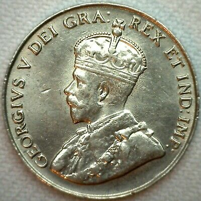 1922 Canada UNC Nickel 5c Canadian Coin KM #29 Uncirculated Five Cents K28
