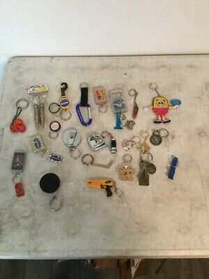 Junk Drawer Lot Of 1 1/2 Lbs. of Key Chains