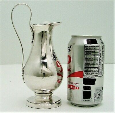 French Sterling Silver Creamer Marked c1850 with Armorial Crest