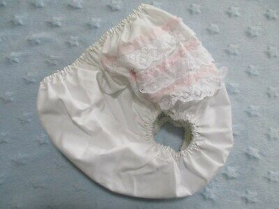 Vintage Frilly Plastic Baby Pants Pink Frilly Bottom Baby Rubbers