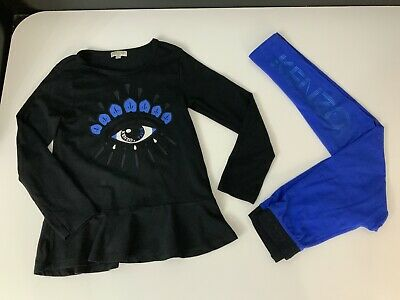 Kenzo Kids Outfit Set Long  Sleeve Top & Leggings Size 128cm Age 8 Years VGC