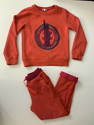 Kenzo Girls Outfit Set Tracksuit Jumper & Bottoms Age 8 Years Size 128 Cm  VGC