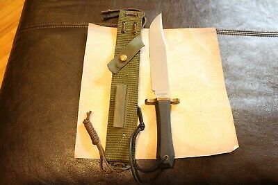 Old Gerber Portland OR USA Bowie Fixed Blade Limited Edition Jungle Sheath