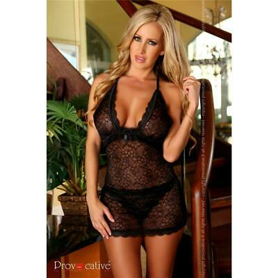 Sweet Babydoll Negligee off Peak Lingerie Incl. String Black #UW202