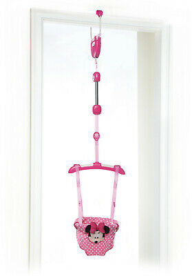 Disney Baby Minnie Mouse Door Jumper Bright Starts Jumping Exercise Door Toy New