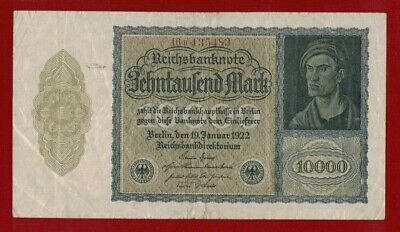 1922 Germany 10000 Mark Cuhaj 71 Fine