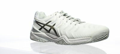 3f9115e6a9d2d ASICS MENS GEL-RESOLUTION 7 White/Silver Running Shoes Size 11.5 (405080)