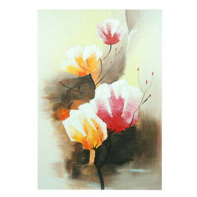 Hand Painted Oil Painting Framed Canvas Modern Art Wall Home Decor Florals