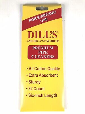 """DILL/'S BRISTLE PIPE CLEANERS 4packs 32 In A Pack.Sturdy Extra Absorbent 6"""" Long"""