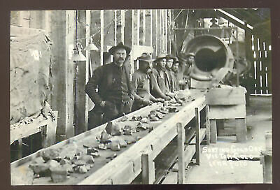 Real Photo Victor Colorado Gold Mine Mining Miners Postcard Copy Sorting