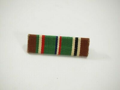 US Military European-African-Middle East Medal Ribbon slide Bar with Pin WWII