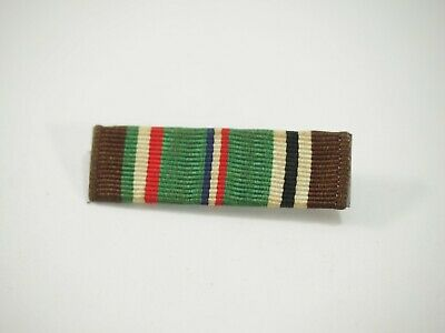 US Military European-African-Middle East Medal Ribbon Bar with Pin WWII