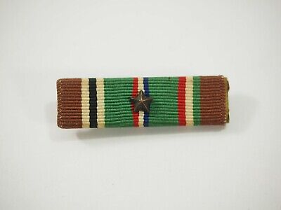 US Military European-African-Mid East Medal Ribbon slideBar with Pin & Star WWII