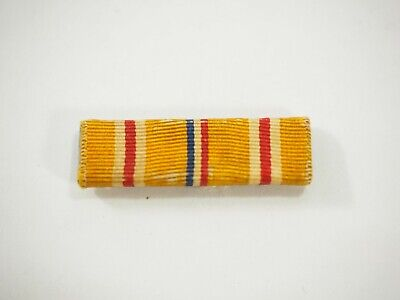 US Military Asiatic Pacific Campaign Medal Ribbon Slide Bar hinged pin back WWII