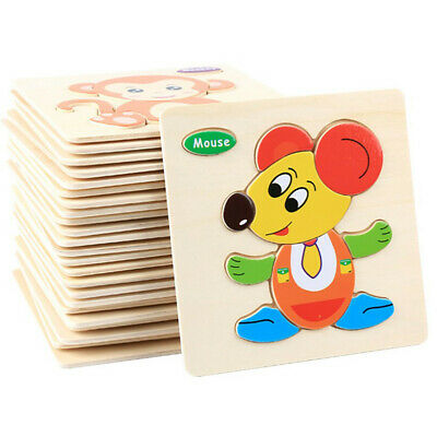 18Kinds Of Funny Wooden Puzzle Educational Developmental Baby Kids Training Toy