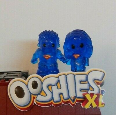 New ~ Ooshies Xl ~ Dc Comics Blue Hologram Superboy + Supergirl Ooshie Series 1