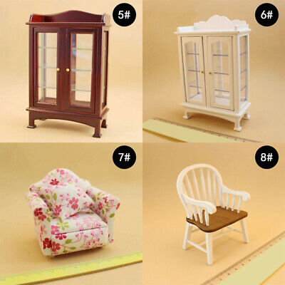 1/12 Dollhouse Miniature Furniture Sofa Bed Chair Bedroom Appliances girls gift
