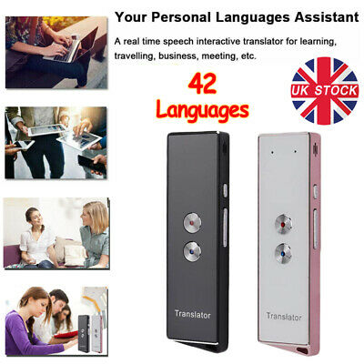 Smart Voice Translator Portable 2-Way Real Time 42 Multi-Language Translation UK