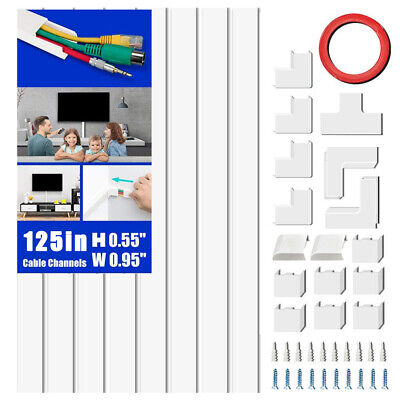 Cord Concealer On-Wall Cable Management Channel Mini Cable Cover Wire Hider Kit.