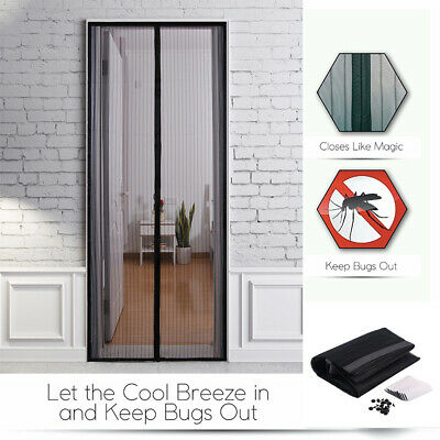 Hands-Free Magnetic Screen Door Net Anti-Mosquito Magic Mesh Bug Curtain Patio #