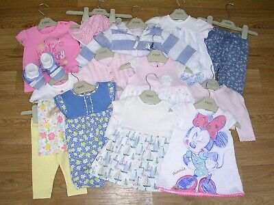 NEXT DISNEY BLUEZOO MINNIE MOUSE Girls Bundle Romper Dress Outfits Age 0-3m