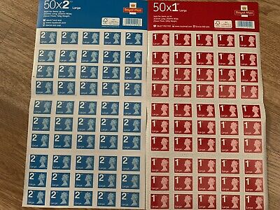 1st & 2nd Class Royal Mail Large/Regular Letter Unused Stamps