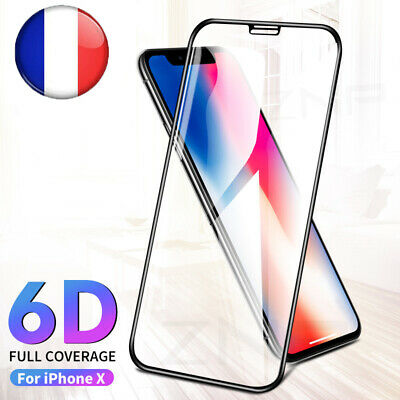 6D Verre Trempé Screen Protection Ecran Film Pour iPhone XR XS MAX X 7 8 Plus