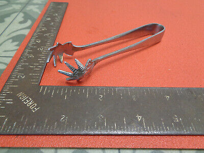 "Vintage chrome plated sugar tongs claws 5"" LOTCOL4VBT"