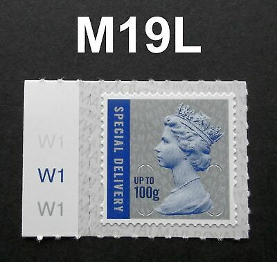 NEW JUNE 2019 SPECIAL DELIVERY 100g M19L MACHIN SINGLE STAMP with CYLINDER TAB
