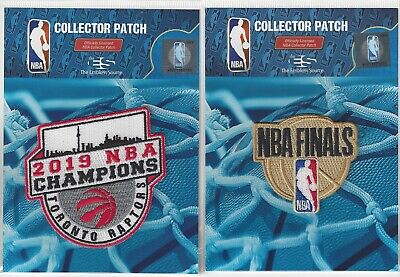 2019 Toronto Raptors 2 Patch Combo Finals Champions Sew On Iron On Official NBA