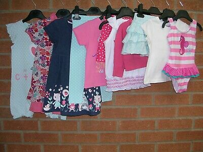 NEXT GEORGE NUTMEG H&M etc Girls Bundle Dresses Tops Shorts Skirt Age 18-24m