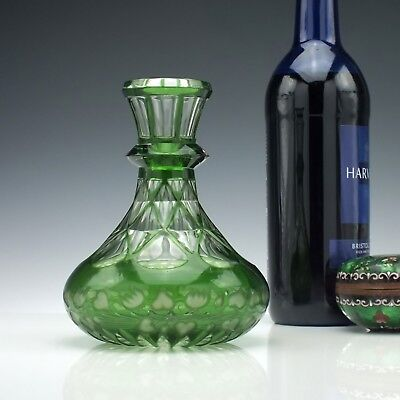 Antique 19th Century Victorian Cut Glass Wine Carafe c1860